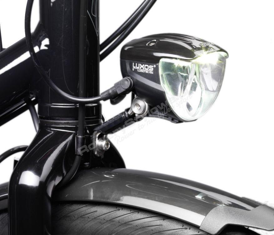 03cbba8dfb72ec ... Przednia lampka rowerowa zasilana prądnicą w piaście moc 90 lux