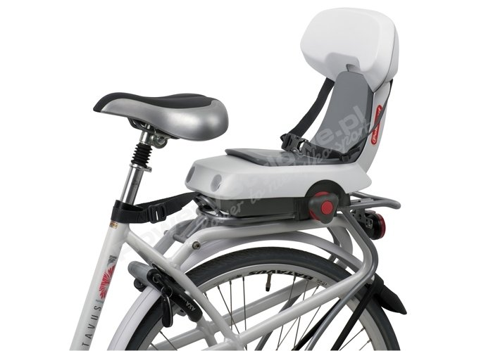 5420a5e65f19d6 tylny fotelik rowerowy dla większych dzieci do 35kg mocowany na bagażniku