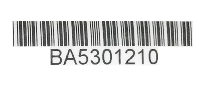Przykładowy numer ramy roweru Batavus