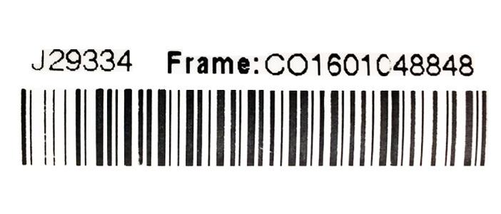 Przykładowy numer ramy roweru Cortina