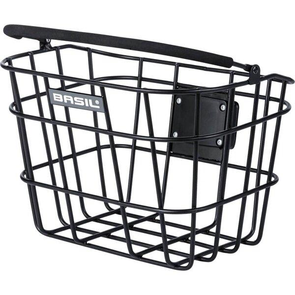Aluminiowy przedni koszyk rowerowy Basil Bremen z systemem KlickFix oraz Basil KF
