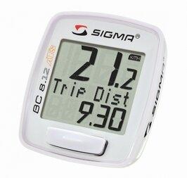 Bezprzewodowy licznik rowerowy SIGMA BC 8.12 ATS Biały