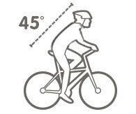 Siodełka sportowe 30-45°