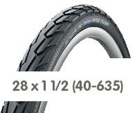 Opony rowerowe 28 x 1 1/2 (40-635)