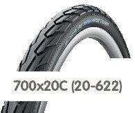 Opony rowerowe 700x20C (20-622)