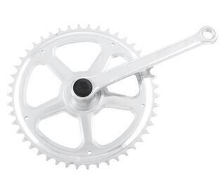 Chromowana korba rowerowa Classic 46 Z