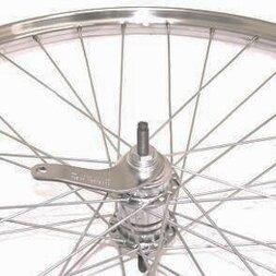 Chromowane klasyczne tylne koło rowerowe 28 x 1 3/8 (22-622)