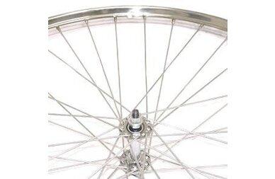 Chromowane przednie koło rowerowe 28 x 1 3/8 (22-622)