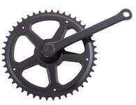 Czarna korba rowerowa Classic 46 zębów