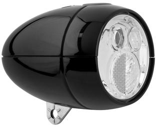 Czarna lampka rowerowa AXA Vintage