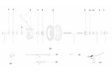 Części do hamulca bębnowego Sturmey Archer X-FD