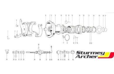 Części do piasty biegowej Sturmey Archer 3