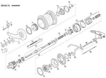 Części do piasty SRAM P5