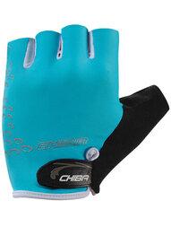 Damskie rękawiczki rowerowe Chiba Lady O2 turkus