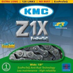 Długi łańcuch rowerowy KMC Z1X 128 ogniw