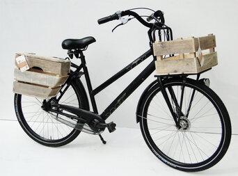 Drewniana skrzynka rowerowa WoodyBox Holland