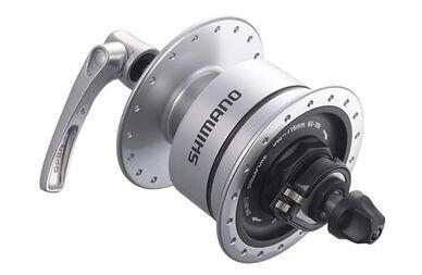 Dynamo w piaście Shimano Sport DH-3N72 na szybkozamykacz