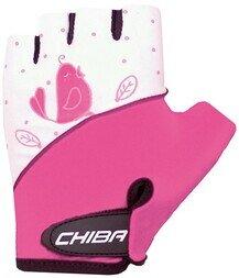 Dziecięce rękawiczki rowerowe Chiba Kid Girls Birdy (różowy)