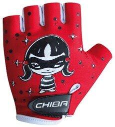 Dziecięce rękawiczki rowerowe Chiba Kid Girls Zorro (czerwone)