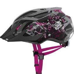 Dziecięcy kask rowerowy Abus MountX, czarny / różowy