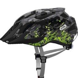 Dziecięcy kask rowerowy Abus MountX, szary / zielony