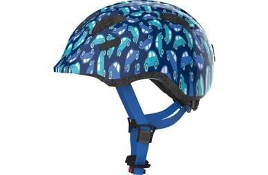 Dziecięcy kask rowerowy Abus Smiley 2.0 Blue Car