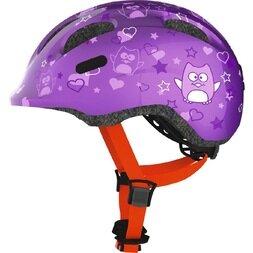 Dziecięcy kask rowerowy Abus Smiley 2.0, fioletowy