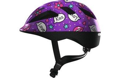 Dziecięcy kask rowerowy Abus Smooty 2.0 Purple Kisses