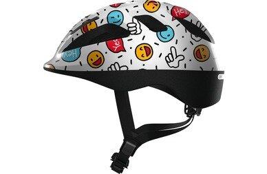 Dziecięcy kask rowerowy Abus Smooty 2.0 White Smiley
