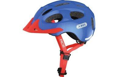 Dziecięcy kask rowerowy Abus Youn-I Ace, niebieski / czerwony