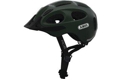 Dziecięcy kask rowerowy Abus Youn-I Ace, zielony metalik