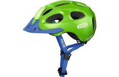 Dziecięcy kask rowerowy Abus Youn-I Ace, zielony / niebieski