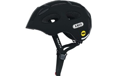 Dziecięcy kask rowerowy Abus Youn-I MIPS, czarny