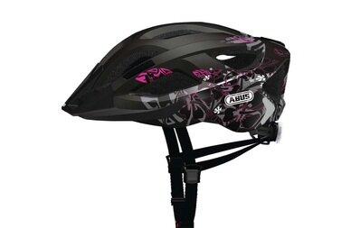 Kask rowerowy ABUS Aduro 2.0 Art - czarny