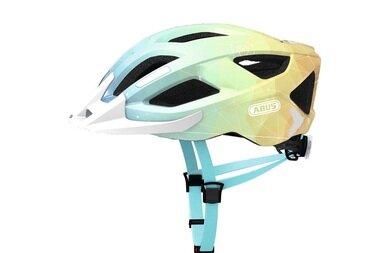 Kask rowerowy ABUS Aduro 2.0 Art - niebieski / pomarańczowy