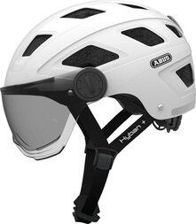 Kask rowerowy ABUS Hyban+ - biały / dymiony