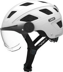 Kask rowerowy ABUS Hyban+ - biały / przezroczysty