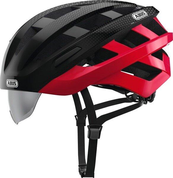 Kask rowerowy Abus In-Vizz Ascent, czarny / czerwony
