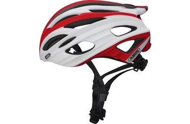 Kask rowerowy Abus In-Vizz, czerwony / biały