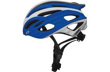 Kask rowerowy Abus In-Vizz, niebieski / biały
