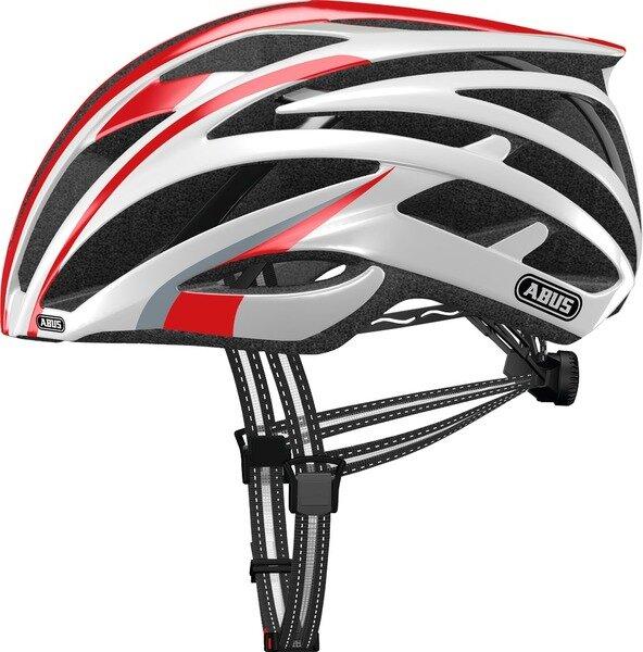 Kask rowerowy Abus Tec-Tical Pro 2.0, czerwony / biały