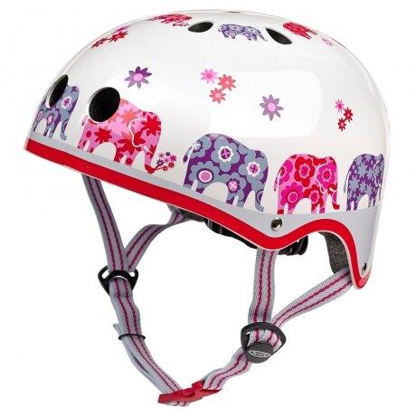 Kask rowerowy dla dzieci Micro – kolor Elephant (różowe słonie)