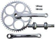 Klasyczna korba rowerowa na klin Andere 46 z. - pełny zestaw montażowy