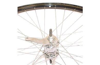 Klasyczne koło rowerowe 28 x 1 1/2 czarne + złote linie