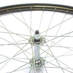 Klasyczne przednie  koło rowerowe 28 x 1 1/2 czarne + złote linie
