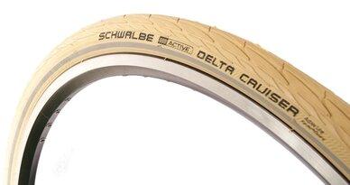 Kremowa opona Schwalbe Delta Cruiser Reflex 26 x 1 3/8 (37-590)