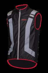 Odblaskowa kamizelka rowerowa WOWOW Flandrien - czarny