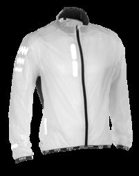 Odblaskowa kurtka rowerowa WOWOW Ultralight Supersafe - kolor biały