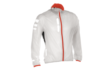 Odblaskowa kurtka rowerowa WOWOW Ultralight Supersafe Red Edition