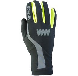 Odblaskowe rękawiczki rowerowe WOWOW Dark Gloves 3.0 - czarny